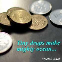 Tiny drops make mighty ocean by Meetali in Gujarati
