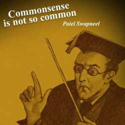 Commonsense is not so common by Patel Swapneel in English