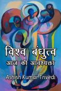 Ashish Kumar Trivedi द्वारा लिखित  विश्व बंधुत्व आज की आवश्यक्ता बुक Hindi में प्रकाशित