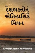 Krushnasinh M Parmar દ્વારા દેશભક્તોનું ઐતિહાસિક મિલન ગુજરાતીમાં