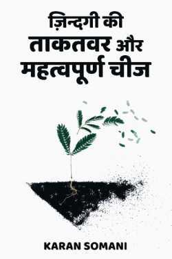 Most Important Thing Of Life by Karan Somani in Hindi