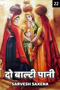 Sarvesh Saxena द्वारा लिखित  दो बाल्टी पानी - 22 बुक Hindi में प्रकाशित