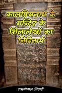 कालप्रियनाथ के मन्दिर के शिलालेखों का निहितार्थ by रामगोपाल तिवारी in Hindi