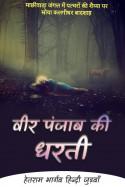 हेतराम भार्गव हिन्दी जुड़वाँ द्वारा लिखित  वीर पंजाब की धरती - 2 बुक Hindi में प्रकाशित