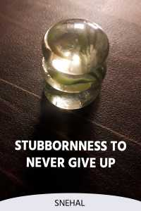Stubbornness To Never Give Up