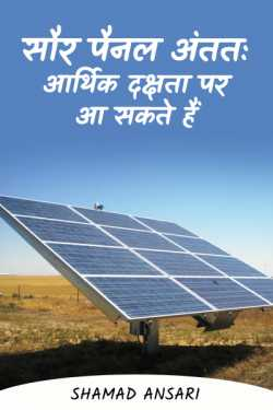 Solar panels may finally come to economic efficiency by Shamad Ansari in Hindi