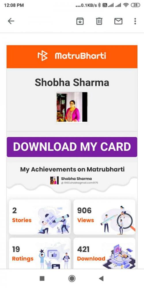 Post by Shobha Sharma on 05-Jun-2020 12:11pm