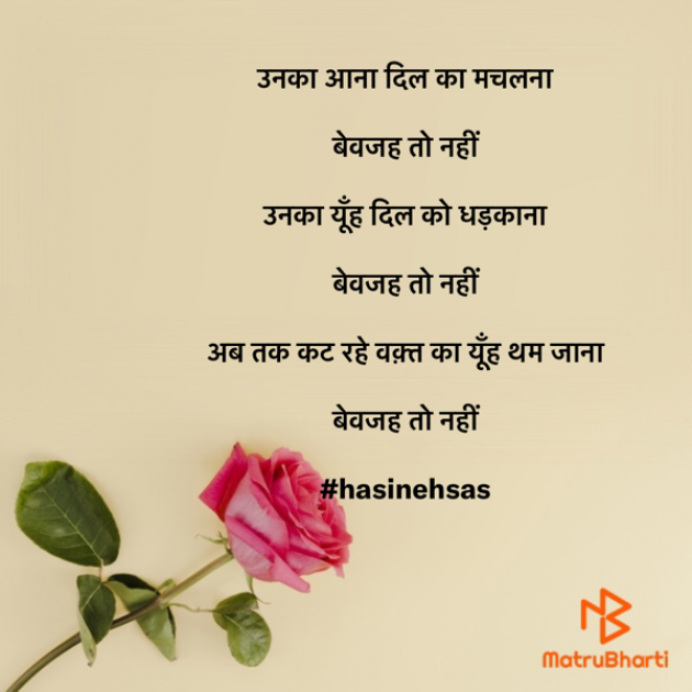 Hindi Shayri by Hasin Ehsas : 111686547