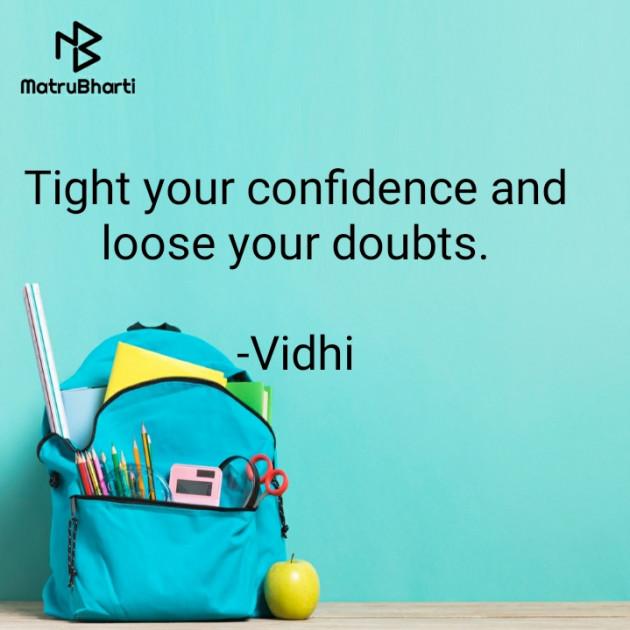 English Motivational by Vidhi : 111708223